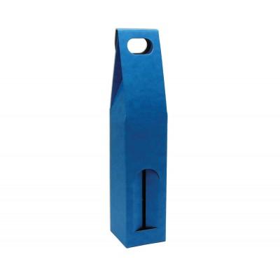 Krabica na 1 fľašu Modrá