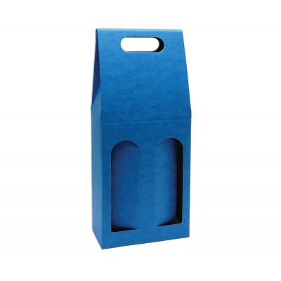 Krabica na 2 fľaše Modrá
