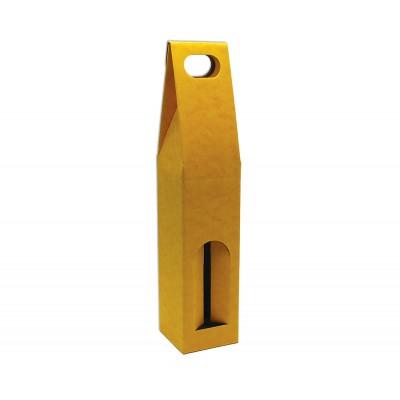 Krabica na 1 fľašu Žltá