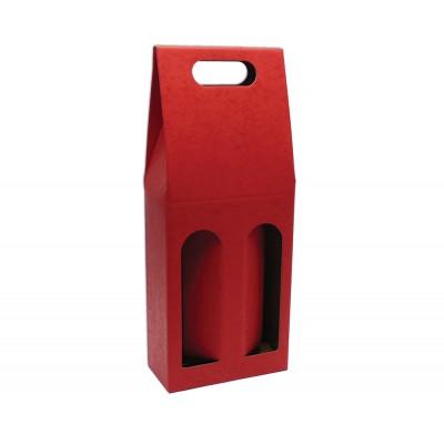Krabica na 2 fľaše Bordová