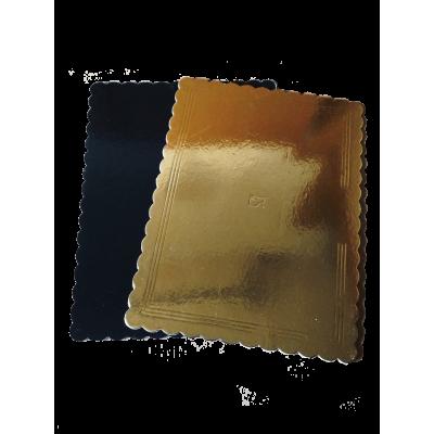 Podnos tortový 30x40 cm Obojstranný Zlato-čierny