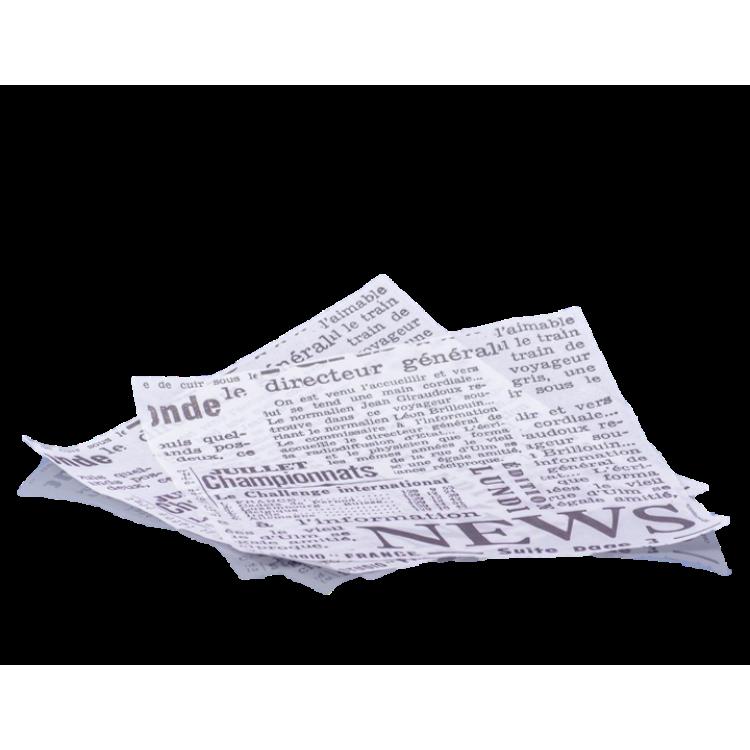 Baliaci papier na hamburger 30x30 cm Noviny / bal. 200 ks