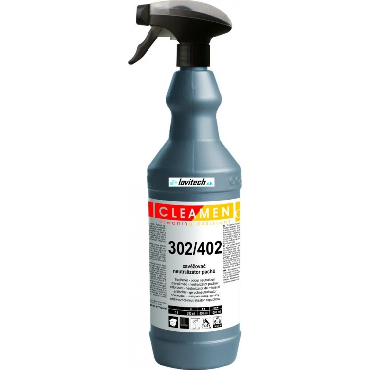 CLEAMEN 302/402 Neutralizátor pachov s vôňou na všetky povrchy 1 l