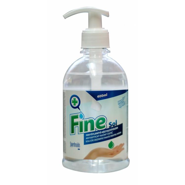 FINE SOL dezinfekčný bezoplachový roztok na ruky 400 ml