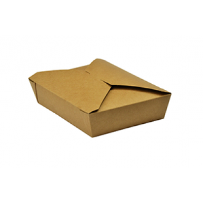 Food box papierový BIO 21,5x16x5 cm, 1450 ml Kraft / bal. 50 ks