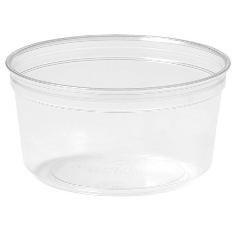 CRYSTAL DELI Kelímok rPET 375 ml okrúhly hladký Priehľadný / bal. 35 ks