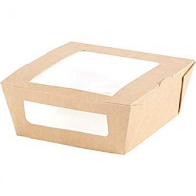 Krabička BIO hnedá s PLA okienkom 120x110x45 mm / bal. 10 ks
