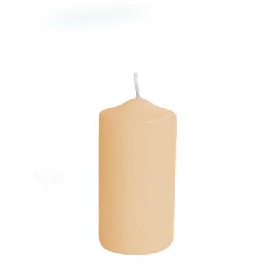 Sviečka valcová pr. 50 mm x 100 mm Béžová / bal. 4  ks