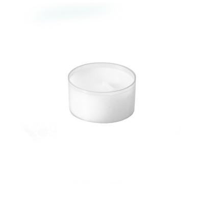 Čajové sviečky pr. 39 mm 6-hodinové Priehľadné / bal. 24 ks