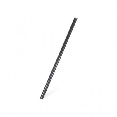 Slamky BIO PLA 20 cm, pr. 8 mm Čierne / bal. 150 ks