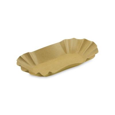 Miska papierová oválna nepremastiteľná Hnedá 10,5x17,5x3 cm / bal. 250 ks