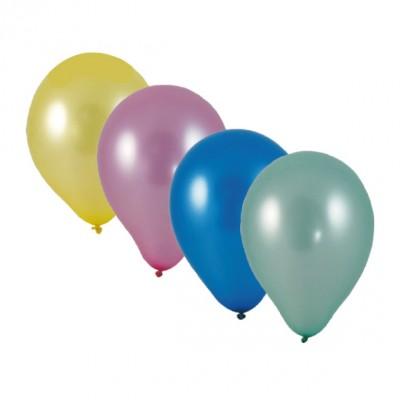 Balóniky M Farebný mix metalíza / bal. 10 ks