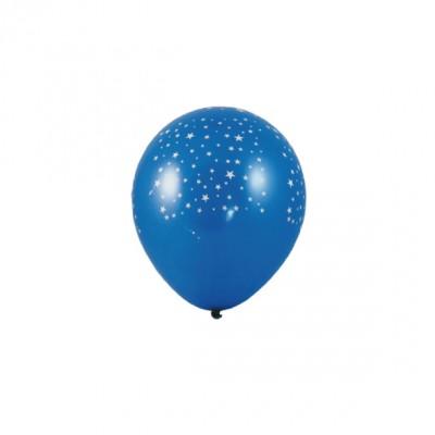 Balóniky L Modré s bielymi hviezdami / bal. 5 ks