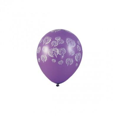 Balóniky L Fialové s bielym ohňostrojom / bal. 5 ks