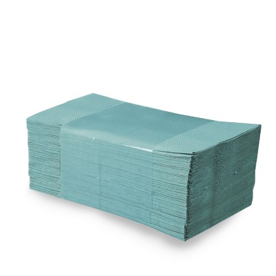 Papierové uteráky skladané ZZ 25x23 cm Zelené