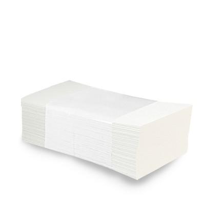 Papierové uteráky skladané ZZ 2-vrstvové 25x21 cm Biele