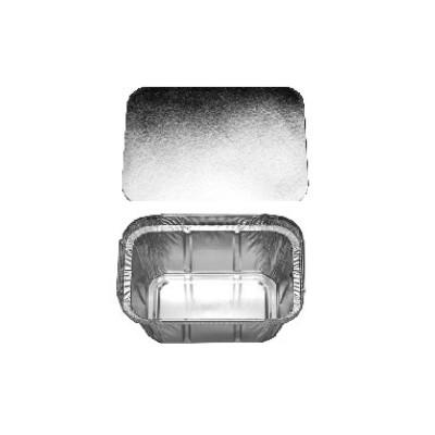 Miska ALU hranatá 250 ml s viečkom / bal. 20 ks