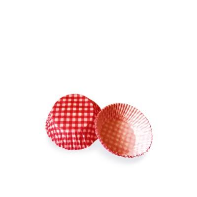 Košíček na zákusky pr. 50x30 mm Karo červené / bal. 40 ks