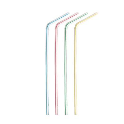 Slamky ohybné 24 cm, pr. 5 mm Pruhované / bal. 250 ks