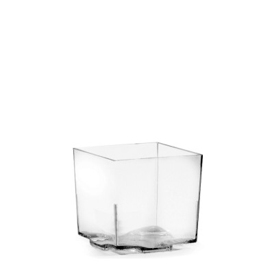 FINGERFOOD Miska hranatá 65 ml, 4,4x4,4x4,3 cm Priehľadná / bal. 20 ks