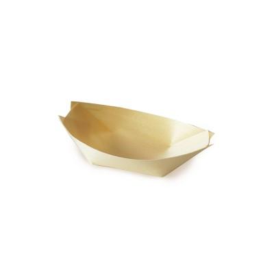 Miska lodička drevená 9x6 cm / bal. 100 ks