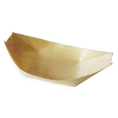 Miska lodička drevená 21,5x11 cm / bal. 100 ks