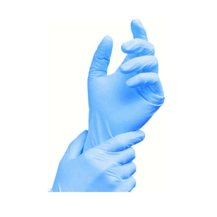 Rukavice nitrilové nepúdrované veľkosť L Modré / bal. 100 ks
