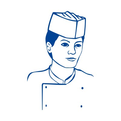 Čiapka kuchárska papierová lodička Biela / bal. 25 ks