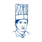 Čiapka kuchárska papierová z netkanej textílie 24 cm Biela / bal. 10 ks