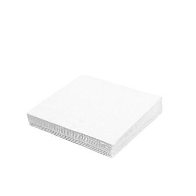 Obrúsky 33x33 cm 1-vrstvové Biele / bal. 100 ks