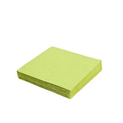 Obrúsky 33x33 cm 1-vrstvové Žlto-zelené / bal. 100 ks