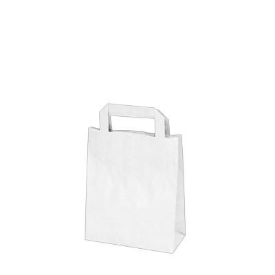 Taška papierová 18x8x22 cm Biela