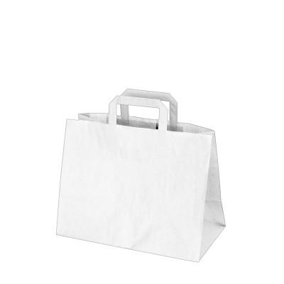 Taška papierová 32x17x25 cm Biela