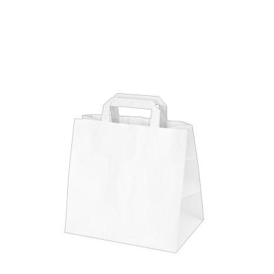 Taška papierová 26x17x25 cm Biela