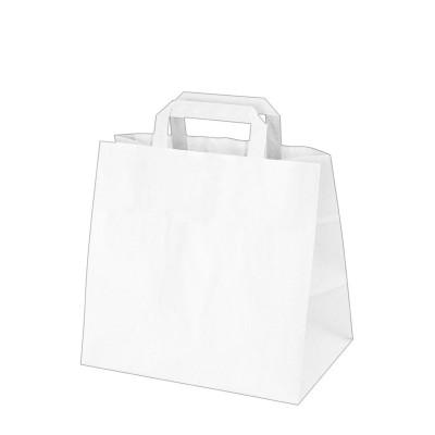 Taška papierová 32x21x27 cm Biela
