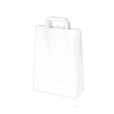 Taška papierová 22x10x28 cm Biela