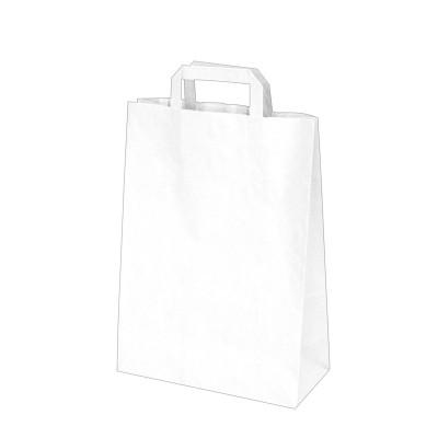 Taška papierová 26x12x36 cm Biela