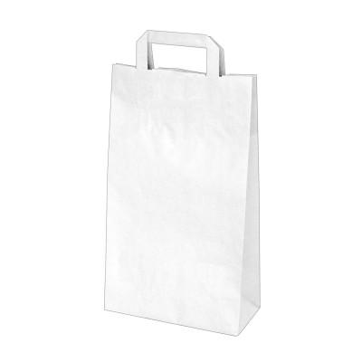 Taška papierová 22x10x38 cm Biela