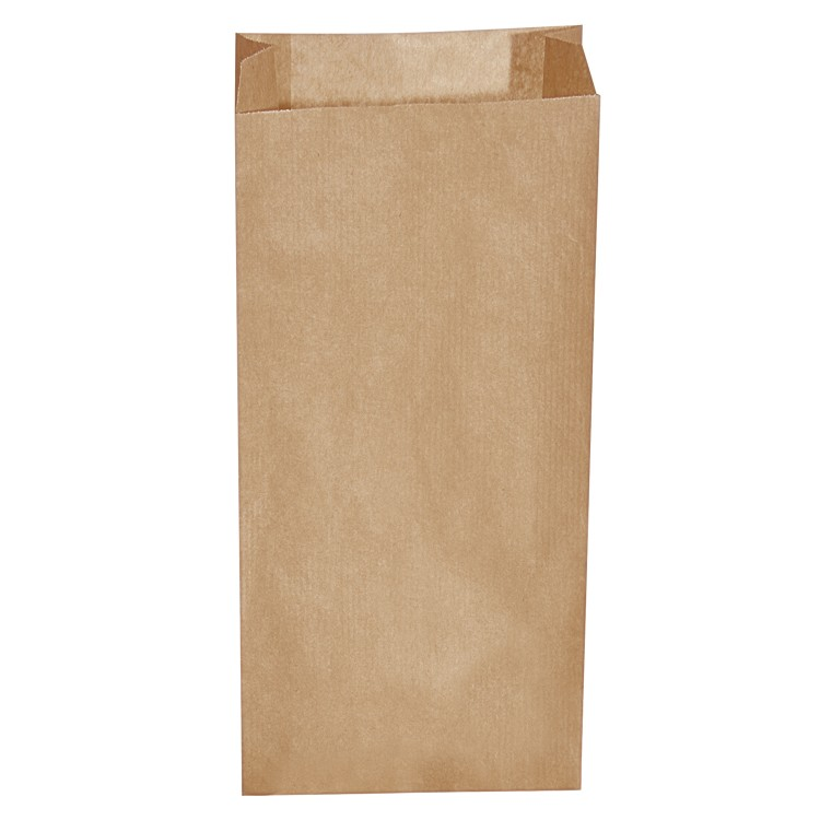 Vrecko papierové desiatové do 5 kg 20+7x43 cm Hnedé / bal. 500 ks