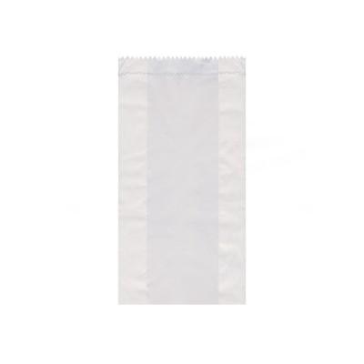 Vrecko papierové desiatové do 1 kg 12+5x24 cm Biele / bal. 100 ks