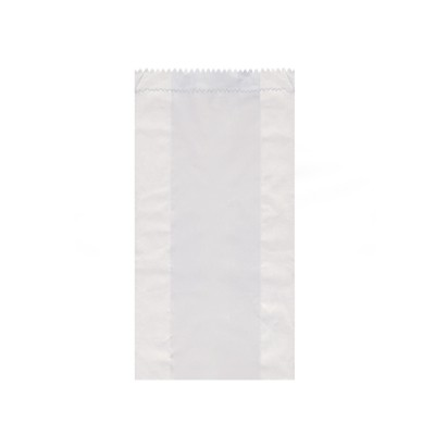 Vrecko papierové desiatové do 1,5 kg 14+7x29 cm Biele / bal. 100 ks