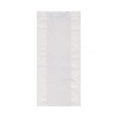 Vrecko papierové desiatové do 2 kg 14+7x32 cm Biele / bal. 100 ks