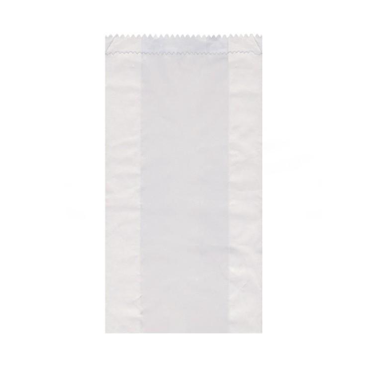 Vrecko papierové desiatové do 2,5 kg 15+7x35 cm Biele / bal. 100 ks