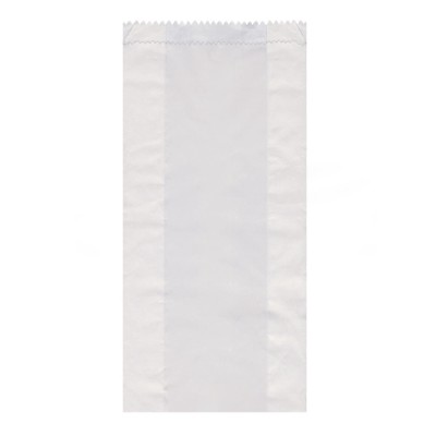 Vrecko papierové desiatové do 3 kg 15+7x42 cm Biele / bal. 100 ks