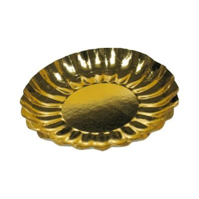 Tanier papierový pr. 21 cm Zlatý / bal. 25 ks