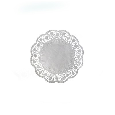 Krajka tortová okrúhla pr. 10 cm Biela / bal. 500 ks