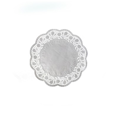 Krajka tortová okrúhla pr. 14 cm Biela / bal. 100 ks