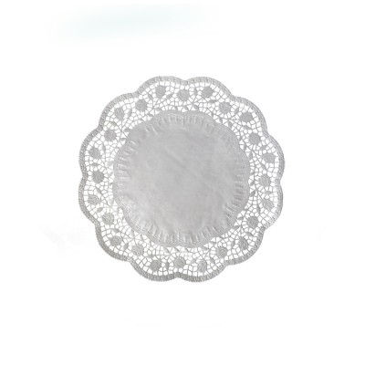 Krajka tortová okrúhla pr. 20 cm Biela / bal. 100 ks