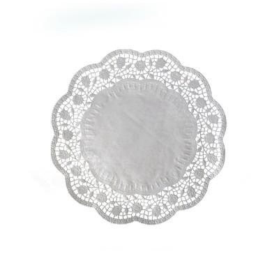 Krajka tortová okrúhla pr. 24 cm Biela / bal. 100 ks