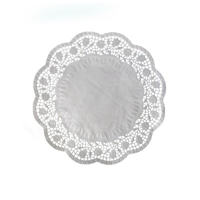 Krajka tortová okrúhla pr. 26 cm Biela / bal. 100 ks